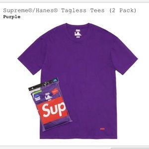 Supreme Hanes tees 2 pack purple